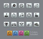 Sport Icons -- Satinbox Series — Stock Vector