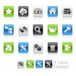 FTP- en hosting pictogrammen--schoon serie — Stockvector