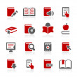 Book Icons -- Redico Series - Stock Vector