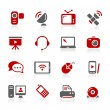 Royalty-Free Stock Imagem Vetorial: Communication Icons -- Redico Series