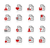 Documents Icons - 2 -- Redico Series — Stock Vector