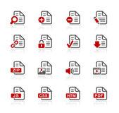 Documents Icons - 1 -- Redico Series — Stock Vector