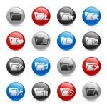 Folder Icons - Set 2 -- Gel Pro Series — Stock Vector