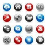 hosting pictogrammen--Proreeks gel — Stockvector