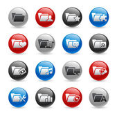 Set de iconos de carpeta ---serie pro de gel — Vector de stock