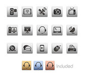 Communication Icons -- Metalbox Series — Stock Vector