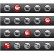 Folder Icons - Set 1 of 2 -- Button Bar Series  — Stock Vector