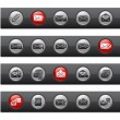 Stock Vector: E-mail Icons -- Button Bar Series