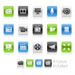 Multimedia Icons -- Clean Series — Stockvektor
