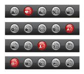 Documents - Set 2 of 2 -- Button Bar Series — Stock vektor