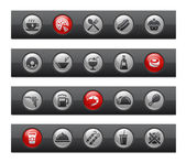 Alimentos - set de 2--botón barra serie — Vector de stock