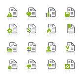 Documenti icone - 2 di 2 - serie natura — Vettoriale Stock