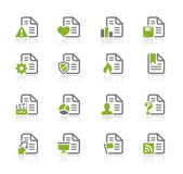 Documents Icons - 2 of 2 -- Natura Series — Stock Vector