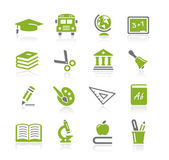 School and Education Icons -- Natura Series — Stock Vector