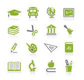 Školy a vzdělání ikony – řada natura — Stock vektor