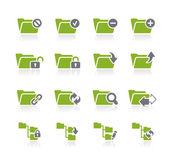 Icone di cartella - 1 di 2 - serie natura — Vettoriale Stock