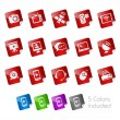 Communication Icons -- Stickers Series — Vector de stock