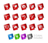 Food Icons - Set 2 of 2 -- Stickers Series — Stock Vector