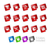 Food Icons - Set 1 of 2 -- Stickers Series — Stock Vector