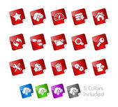 Hosting Icons -- Stickers Series — Stock Vector