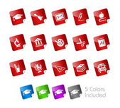 Education Icons -- Stickers Series — Stock Vector