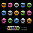 Folder Icon set 2 - Gelcolor Series — Image vectorielle