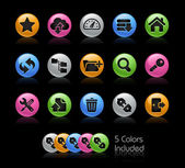 Hosting Icon set - Gelcolor Series — Stock Vector