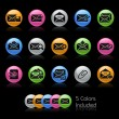 E-mail Icon set - Gelcolor Series — Stockvectorbeeld