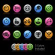 Sport Icon set - Gelcolor Series — Stockvectorbeeld