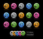 Documents Icon set - Gelcolor-Series — Stock Vector