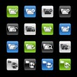 Folder icons 1 -- Gelbox Series  — Stock vektor