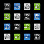 Document Icons 2 -- Gelbox Series — Stock Vector #35043483