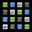 Document Icons 1 -- Gelbox Series — Vettoriali Stock