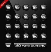 Folder Icons - 2 of 2 -- Black Label Series — Stock Vector