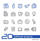 Büro und geschäft-symbole--line serie — Stockvektor