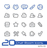 Chat Room Icons -- Line Series — Stock Vector
