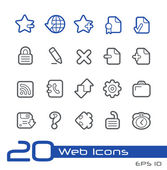 Web Icons -- Line Series — Stock Vector