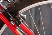 Bremsen auf dem Fahrrad — Stockfoto
