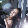Royalty-Free Stock Photo: Girl with a barbell in gym