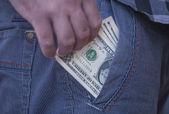 Cebinizde para — Stok fotoğraf