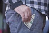 La main avec de l'argent — Photo