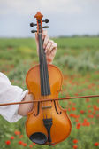 Hand with violin — Stock Photo