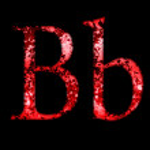 Grunge font letter b — Stock Photo