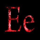 Grunge font letter e — Stock Photo