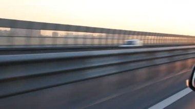 Fast driving on the bypass highway — Stock Video