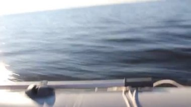 Video of water from the fast moving motor boat — Stock Video