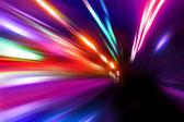 Speed motion on night street — Stock Photo