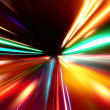 Stock Photo: Abstract acceleration speed motion on night road