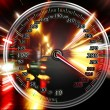 Excessive speed on the speedometer — Stock Photo