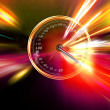 Excessive speed on the speedometer - Foto Stock